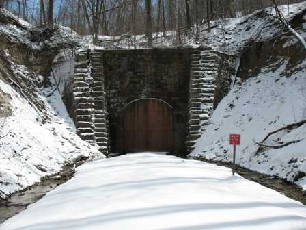 Elroy Sparta Trail Tunnel #3 in the winter